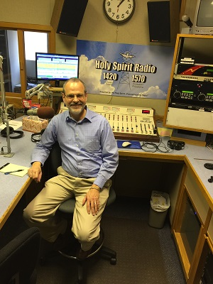 Catholic speaker and author Gary Zimak in the studios of Holy Spirit Radio in Philadelphia