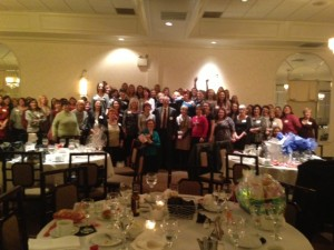 Catholic Speaker Gary Zimak on the night of his talk at the annual Saint Maria Goretti Ladies Candlelight Dinner in Westfield, Indiana