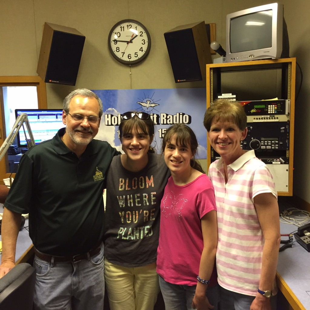 Gary Zimak and family in the studios of Holy Spirit Radio