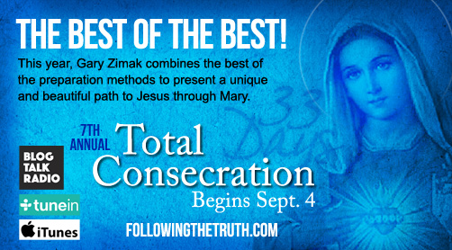 Catholic speaker Gary Zimak leads Total Consecration To Jesus Through Mary on his daily podcast