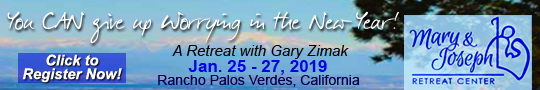 Book Catholic Speaker Gary Zimak for the popular retreat - Give Up Worrying In The New Year